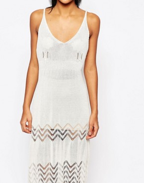 photo Knitted Midi Dress by Moon River, color Cream - Image 2