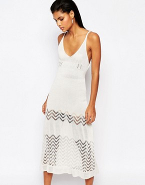 photo Knitted Midi Dress by Moon River, color Cream - Image 1