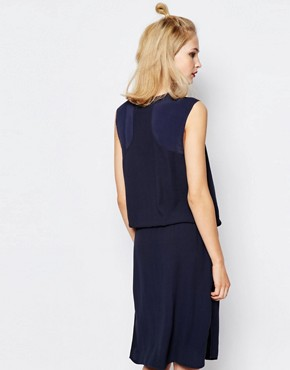 photo Aller Sleeveless Dress by Samsoe & Samsoe, color Navy - Image 2
