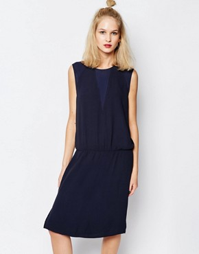 photo Aller Sleeveless Dress by Samsoe & Samsoe, color Navy - Image 1