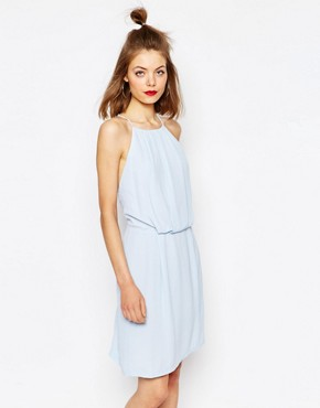 photo Willow Short Dress with Lace Inserts by Samsoe & Samsoe, color Cashmere Blue - Image 2