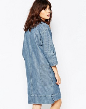 photo Denim Shift Dress by See by Chloe, color Blue - Image 2