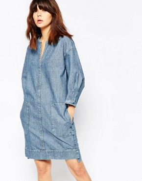 photo Denim Shift Dress by See by Chloe, color Blue - Image 1