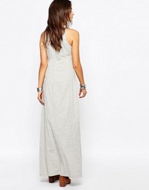photo Tie Waist Jersey Maxi Dress by Esprit, color Grey - Image 2