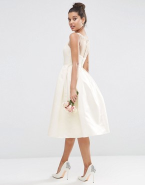 photo Crystal Sweetheart Midi Prom Dress by ASOS BRIDAL, color White - Image 2