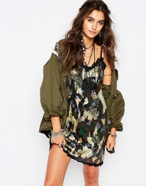 photo Sequin Dress in Camo by Native Rose, color Camo - Image 1