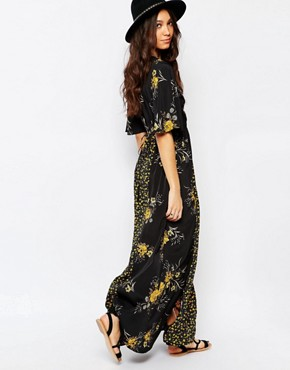 photo Maxi Dress in Mixed Floral Print by Band of Gypsies, color Multi - Image 2