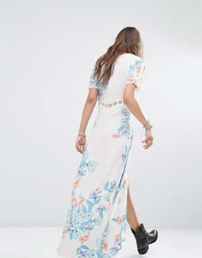 photo Daydreamer Lace up Front Festival Floral Maxi Dress by Somedays Lovin, color Multi - Image 2