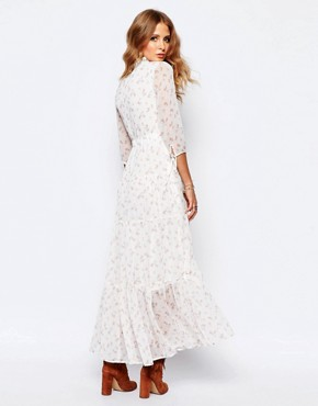 photo Victoriana Ditsy Print Maxi Dress by Millie Mackintosh, color Cream - Image 2