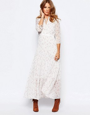 photo Victoriana Ditsy Print Maxi Dress by Millie Mackintosh, color Cream - Image 1