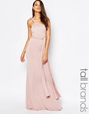 photo Multiway Maxi Dress by TFNC Tall WEDDING, color Mauve - Image 1