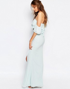 photo Off Shoulder Maxi Dress with Embellishment by TFNC Tall, color Mint - Image 2