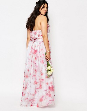 photo River Printed Maxi Dress by Fame and Partners Plus, color Multi - Image 2
