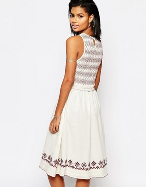 photo Tamarack Embroidered Midi Dress by Tularosa, color Ivory - Image 2