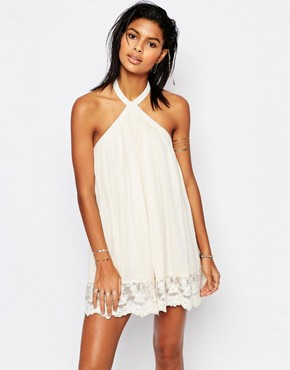 photo Holden Backless Swing Dress by Tularosa, color Natural - Image 2