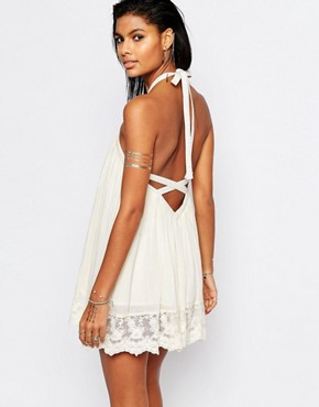 photo Holden Backless Swing Dress by Tularosa, color Natural - Image 1