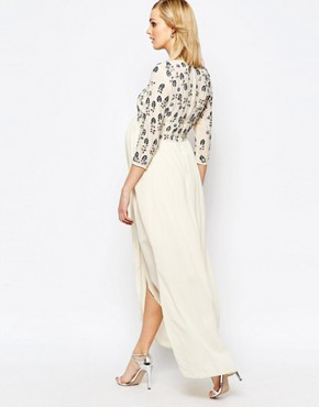photo Floral Embellished Maxi Dress by Maya Maternity, color Multi - Image 2