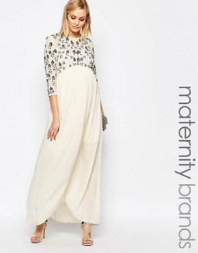 photo Floral Embellished Maxi Dress by Maya Maternity, color Multi - Image 1
