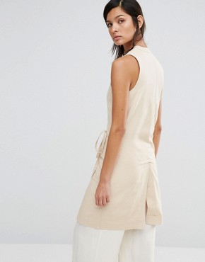 photo Sleeveless Dress with Wrap Front by Neon Rose, color Beige - Image 2
