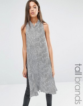 photo Button Through Shirt Dress by Noisy May Tall, color Multi - Image 1