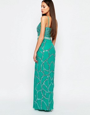 photo Michelle Maxi Dress with Split by Virgos Lounge, color Blue - Image 2