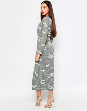 photo Keely Midi Dress with Split by Virgos Lounge, color Grey - Image 2