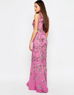 photo Audrey Maxi Dress with Split by Virgos Lounge, color Pink - Image 2