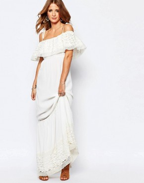 photo Embroidered Maxi Dress by Millie Mackintosh, color White - Image 1