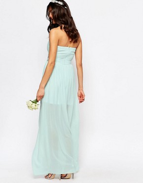 photo Pleated Embellished Waist Maxi Dress by TFNC WEDDING, color Morning Mist - Image 2