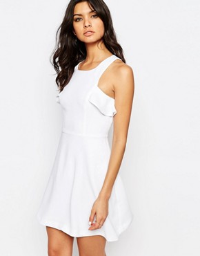 photo Ruffle Detail Dress by BCBGeneration, color Optic White - Image 1