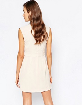 photo Dreaming Of You Dress in Nude by Finders Keepers, color Beige - Image 2