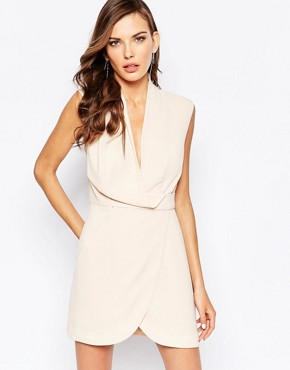 photo Dreaming Of You Dress in Nude by Finders Keepers, color Beige - Image 1