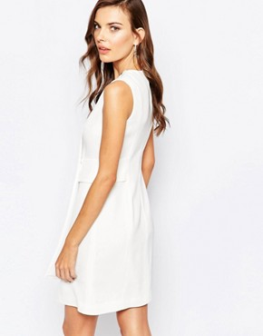 photo 60s Shift Dress in Ivory by Finders Keepers, color Ivory - Image 2