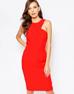 photo Hurricane Midi Dress in Pomegranite by Finders Keepers, color Pomegranite - Image 1