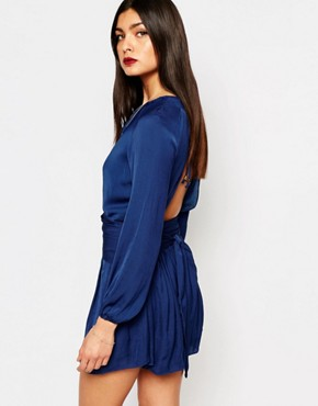 photo Samira Mini Dress with Long Sleeves by Bec & Bridge, color Blue - Image 2