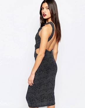 photo Amulet Twist Halter Dress in Spot Print by Bec & Bridge, color Spot Print - Image 2