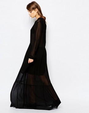 photo Kwan Maxi Smock Dress by Samsoe & Samsoe, color Black - Image 2