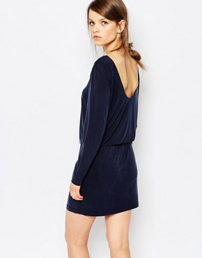 photo Arvinna Scoop Back Dress in Cupro by Samsoe & Samsoe, color Navy - Image 1
