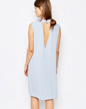 photo Theta Shift Dress with Deep V Back by Samsoe & Samsoe, color Kentucky Blue - Image 1
