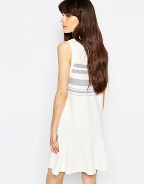 photo Apin Drop Waist Dress by Samsoe & Samsoe, color Cream - Image 2
