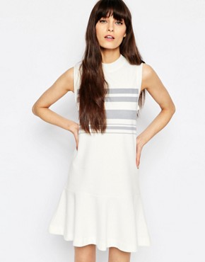 photo Apin Drop Waist Dress by Samsoe & Samsoe, color Cream - Image 1
