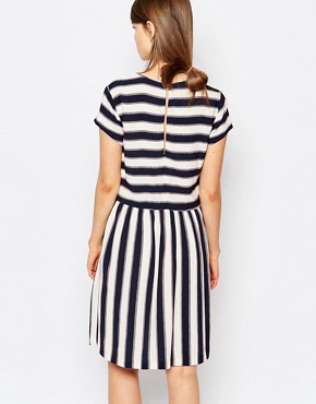 photo Vermund Skater Dress in Stripe by Samsoe & Samsoe, color Multi - Image 2
