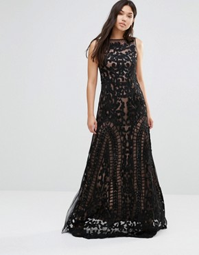 photo Maxi Dress with Sheer Detail by A Star Is Born, color Black - Image 1
