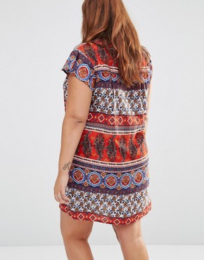 photo Shift Dress in Paisley Stripe by Diya Plus, color Multi - Image 2