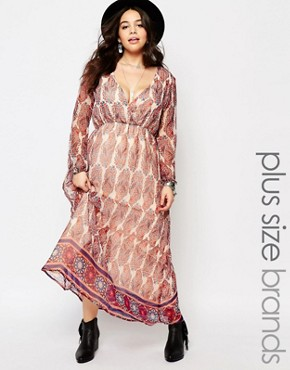 photo Maxi Dress in Paisley Print by Diya Plus, color Multi - Image 1