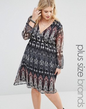 photo Dress with Long Sleeves by Diya Plus, color Multi - Image 1