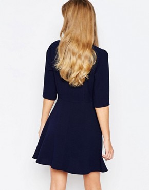 photo Tailored Double Breasted Dress by Love, color Navy - Image 2