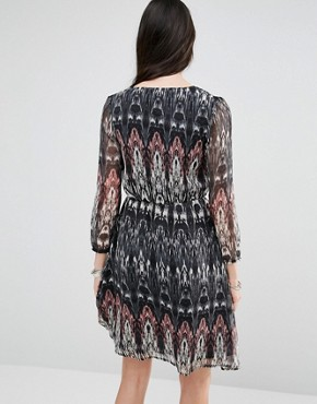 photo Dress with Long Sleeves by Diya, color Multi - Image 2