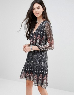 photo Dress with Long Sleeves by Diya, color Multi - Image 1