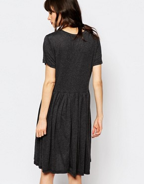 photo Imani Smock Dress in Jersey by Just Female, color Anthracite Melange - Image 2
